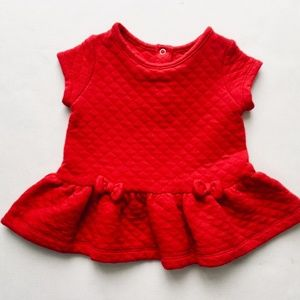 Little Red Quilted Skirted Shirt